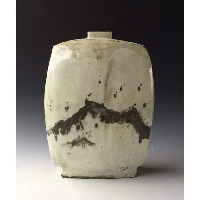 Contemporary Kang Hyo Lee,, Buncheong, Flat Bottle, 2016 For Sale - Image 3 of 3