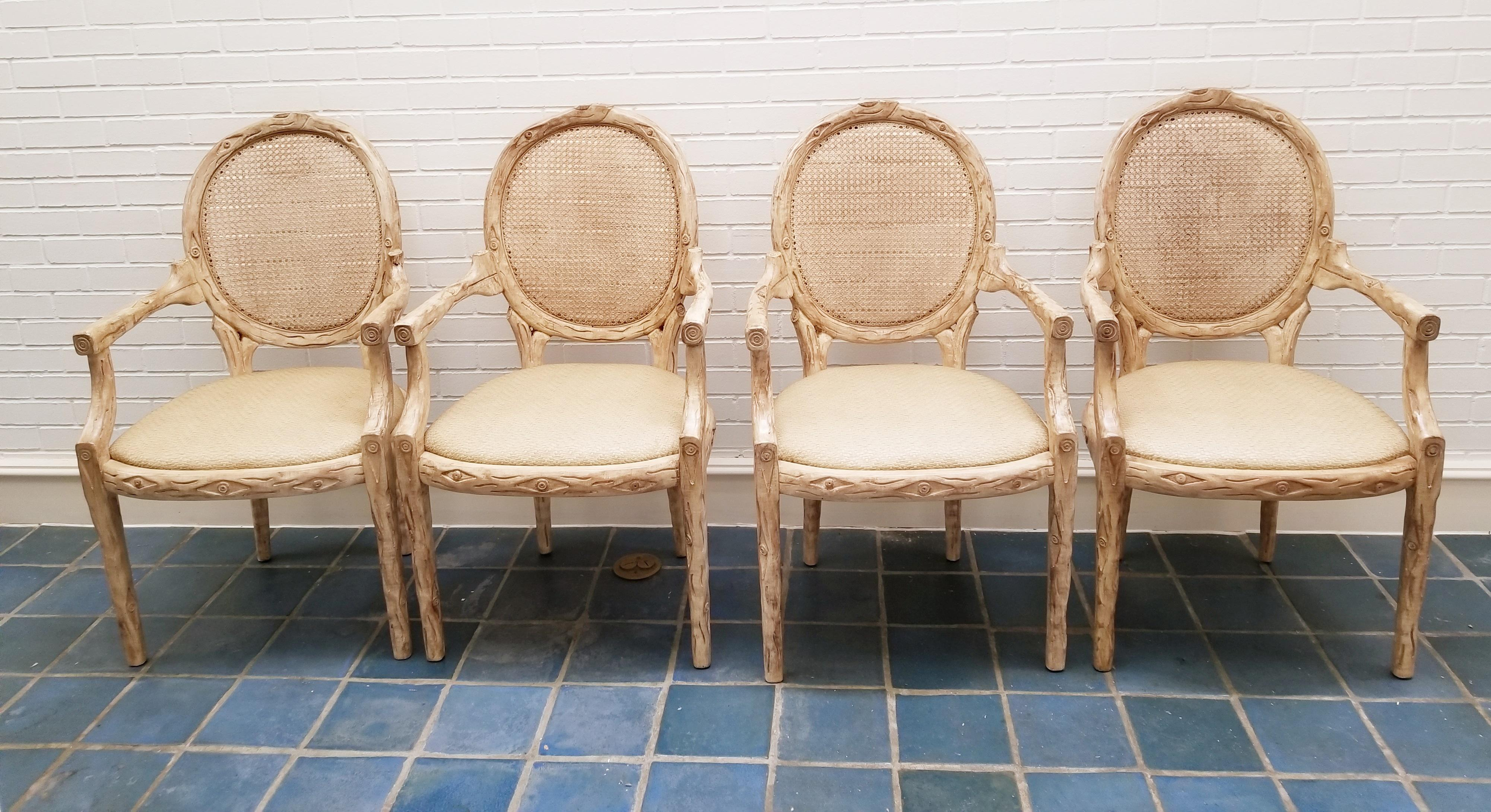 Faux Bois Chairs   Set Of 4   Image 3 Of 6