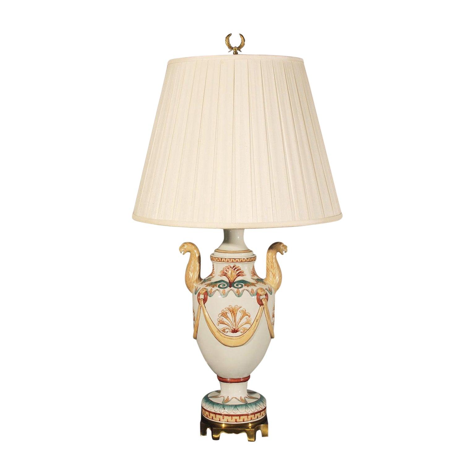 Vintage Maitland Smith Neoclassical Porcelain Lamp Chairish