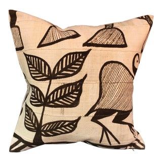 African Tribal Vintage Mud Cloth Pillow For Sale