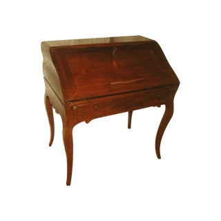 French 18th C. Hand Carved Fruitwood Desk