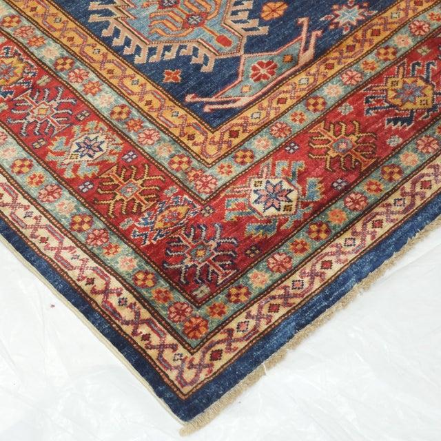 """Red & Blue Kazak Rug - 6' x 9'8"""" - Image 6 of 6"""