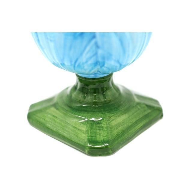 Ceramic Blue Tulip Planters - a Pair - Image 4 of 10