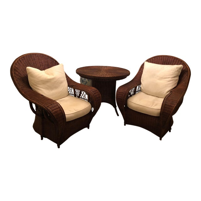 Ralph Lauren Garden Chairs and Round Table - Set of 3 For Sale