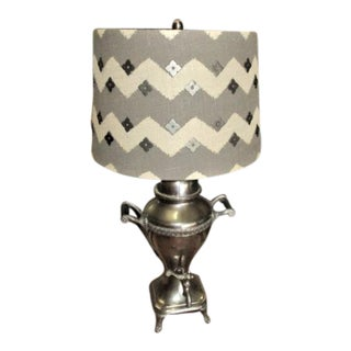Vintage Lamp From Silver Coffe Pot