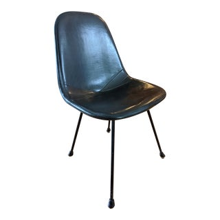 Herman Miller Eames Dkx Upholstered Vinyl Wire Chair For Sale