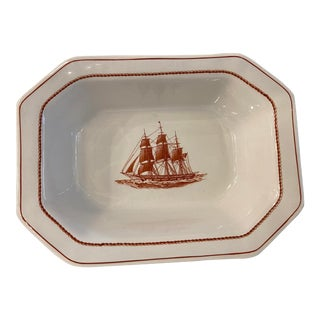 Wedgewood Flying Cloud Rust Oval Vegetable Bowl For Sale