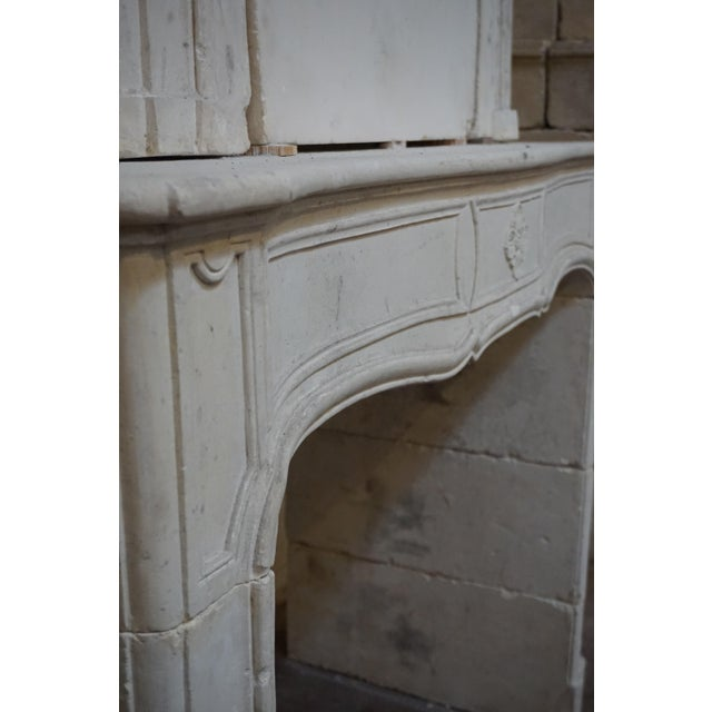 18th Century Limestone Mantel with Trumeau For Sale In Dallas - Image 6 of 7