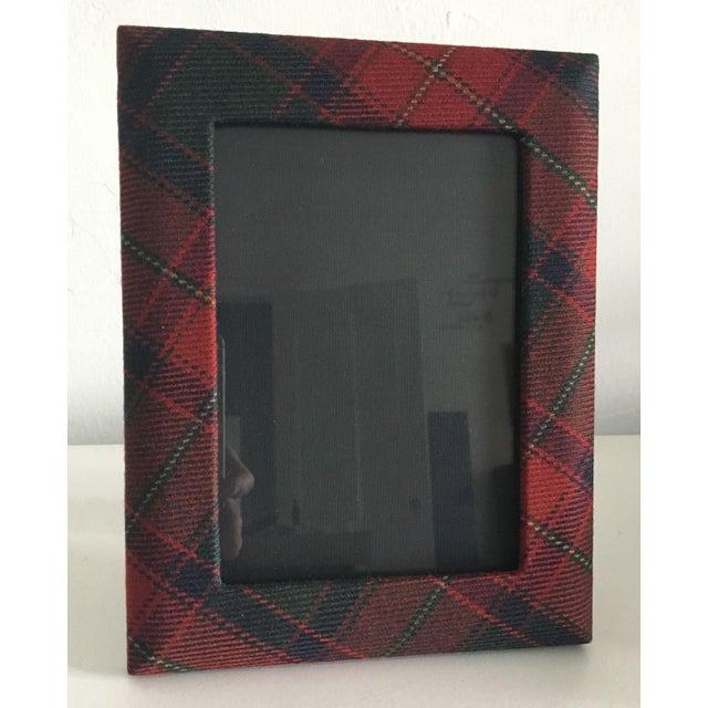Ralph Lauren Dark Red Classic Tartan 5 X 7 Picture Frames A Pair