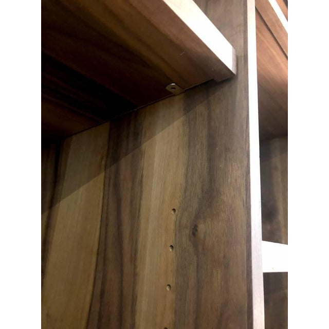Metal Mid-Century Modern Room and Board Solid Walnut Cabinet For Sale - Image 7 of 8
