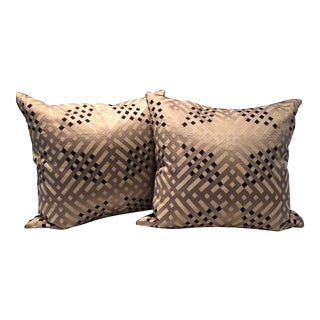 Colefax and Fowler Geometric Pillows - a Pair For Sale