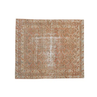 "Vintage Distressed Malayer Square Carpet - 5'4"" X 6'2"""
