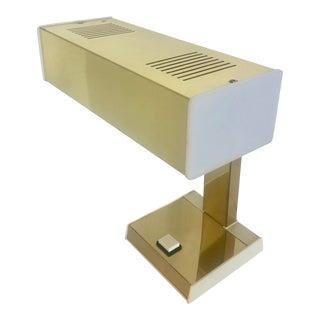 1970's Gold & White Desk Lamp For Sale