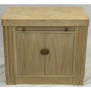 Vintage Contemporary Art Deco Hickory White Cabinet Preview