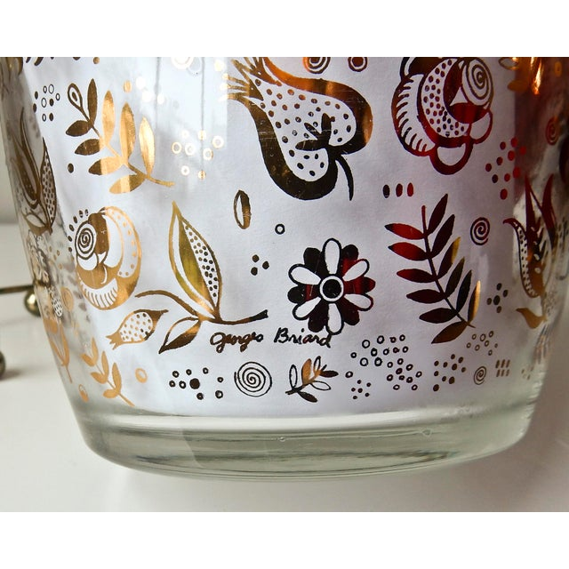 Georges Briard Glass 24K Gold Ice Bucket - Image 6 of 7