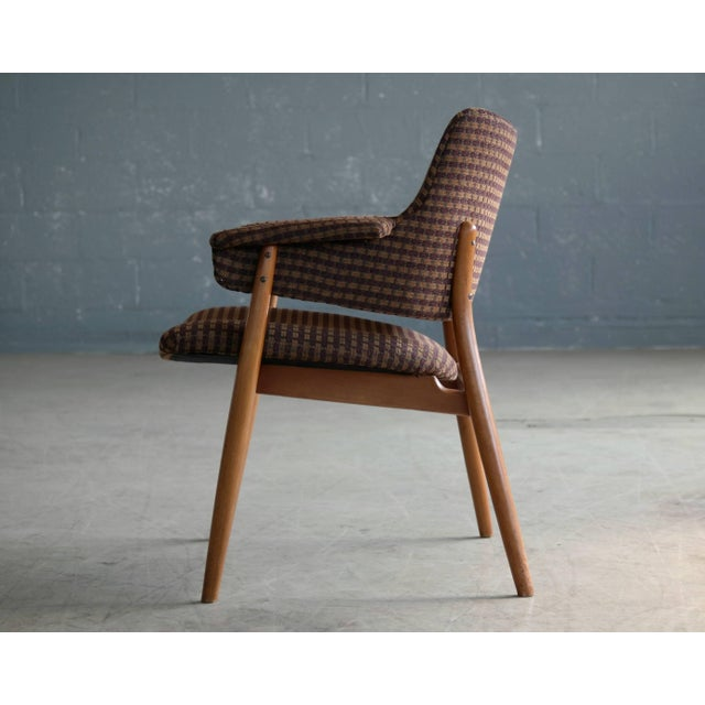 Brown Midcentury Hans Olsen Style Lounge or Accent Chair For Sale - Image 8 of 10