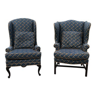 Vintage Mid Century Wingback Chairs - a Pair For Sale
