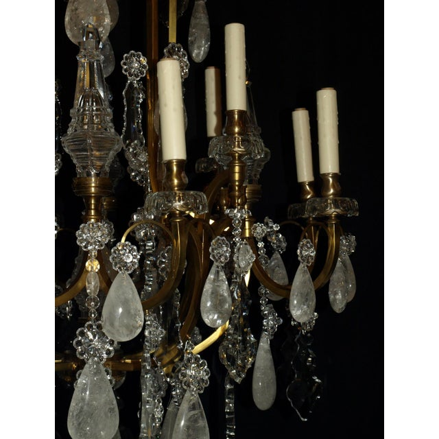 1920s Antique Chandelier. Rock Crystal Chandelier by Baccarat For Sale - Image 5 of 8