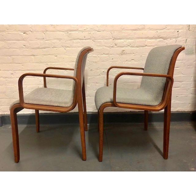 I purchased these at the Estate of the original owner. They are Knoll International armchairs designed by Bill Stephens -...