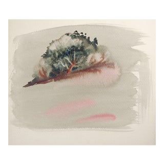 Shadow Forest Watercolor Painting For Sale