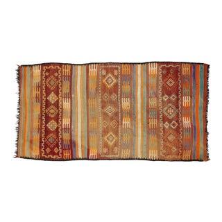 Vintage Berber Moroccan Kilim Rug - 06'07 X 12'07 For Sale