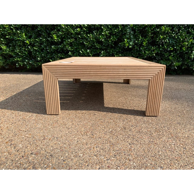 Transitional John Hutton for Sutherland Reeded Rectangular Coffee Table For Sale In Dallas - Image 6 of 9
