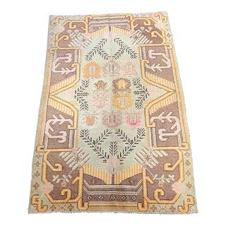 1920s Vintage Khotan Area Rug - 4′10″ × 7′11″ For Sale