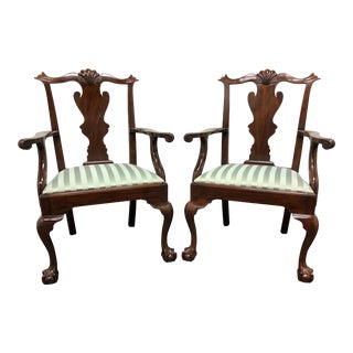 Henkel Harris Model 102 a Chippendale Ball Claw Dining Armchairs - Pair For Sale