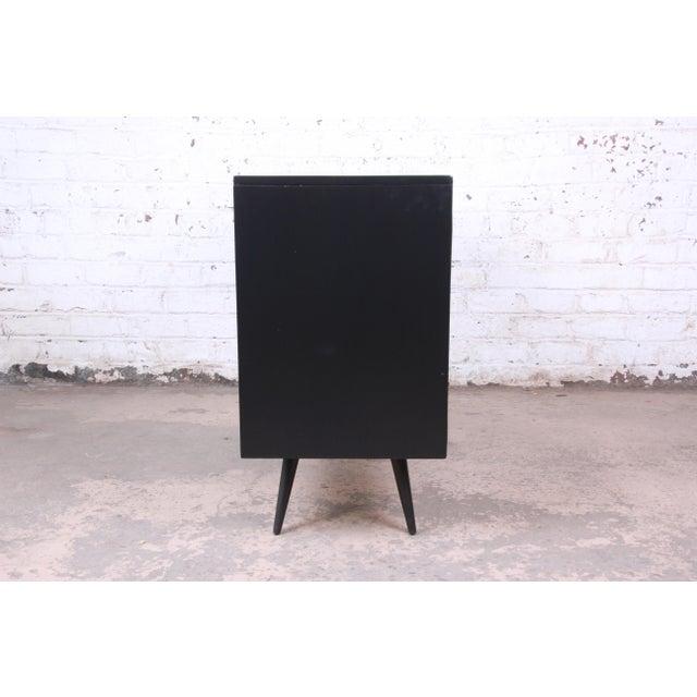 Paul McCobb Planner Group Ebonized Six-Drawer Dresser, Newly Restored For Sale - Image 9 of 11