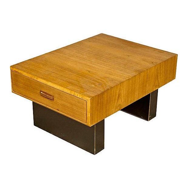 Teak & Black Painted Coffee Table For Sale