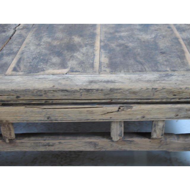 1910s Rustic Square Shandong Coffee Table For Sale - Image 4 of 6