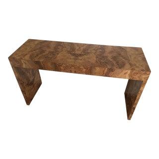 Vintage Burl Console Table For Sale