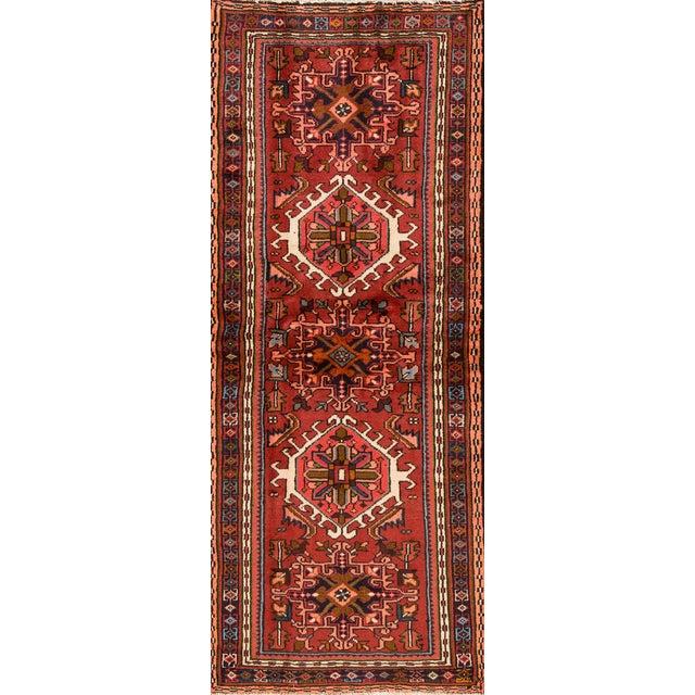 "Apadana - Vintage Persian Heriz, 2'4"" x 6'1"" For Sale - Image 5 of 5"