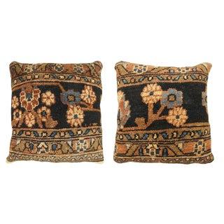Vintage Persian Hamadan Pillows - A Pair For Sale
