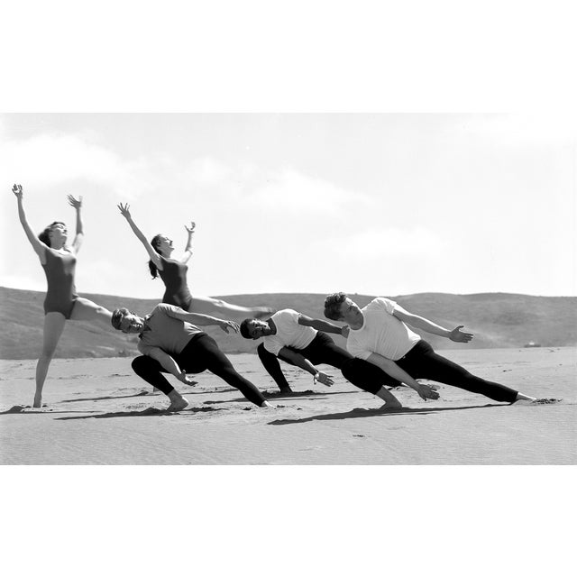 "Pigment print on archival rag paper. Dancing on Dunes, Anna Halprin Dancers, 1952. Signed ""Gerald Ratto"" lower right...."