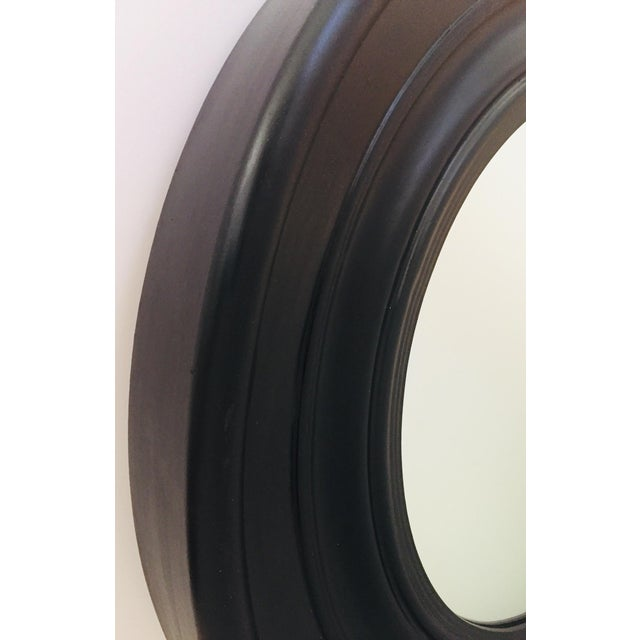 Large Round Black Painted Mirror For Sale In Los Angeles - Image 6 of 11