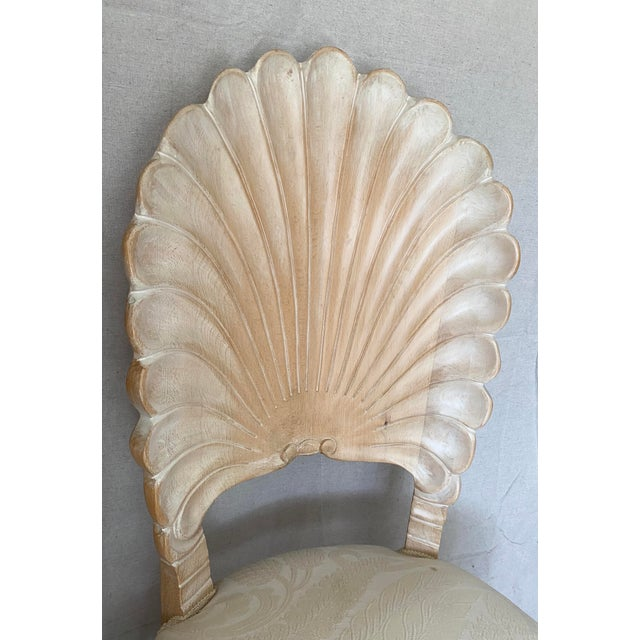 Vintage Carved Back Shell Chairs- Set of 6 For Sale - Image 9 of 13