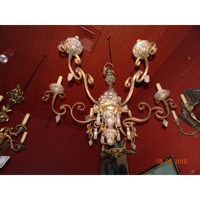 18th Century Italian Tassel Chandelier For Sale - Image 11 of 12