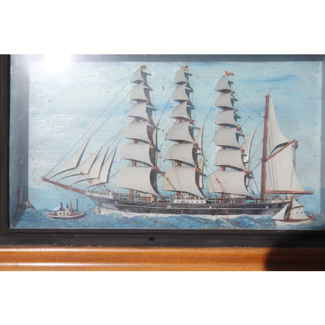 19th C. Antique American Sailing Ship Painting For Sale - Image 9 of 10