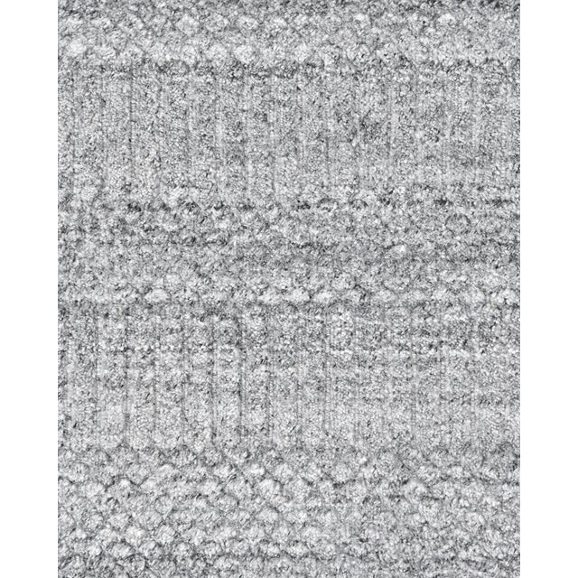 2020s Sanam, Contemporary Solid Hand Loomed Area Rug, Gray, 8 X 10 For Sale - Image 5 of 9