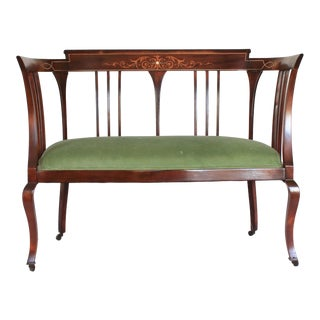 Antique Mahogany Settee For Sale