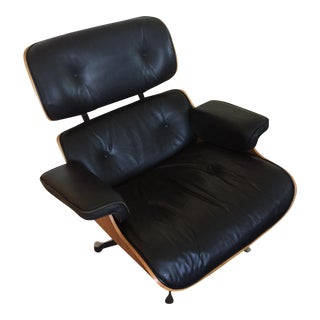 Eames Black Leather Lounge Chair