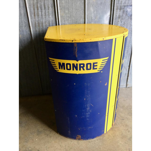 Vintage Monroe Shock Absorbers Trade Display Cabinet For Sale - Image 9 of 11
