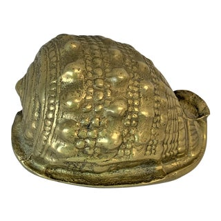 Vintage Brass Shell Paperweight For Sale
