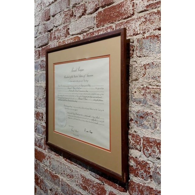 Ronald Reagan Signed Presidential Appointment to Thomas Paine for Space Commission For Sale In Los Angeles - Image 6 of 7
