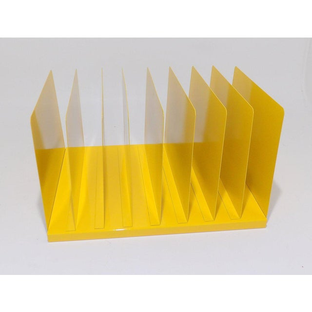 Mid 20th Century Yellow Metal Office File/Organizer For Sale - Image 5 of 7