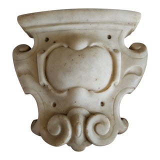 Antique Carved Marble Cartouche For Sale