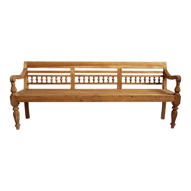 Colonial Teak Bench - Image 1 of 6