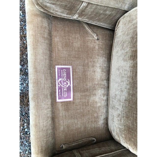 O Henry House Ltd Down Filled Velvet Chenille Sofa For Sale In Charleston - Image 6 of 13