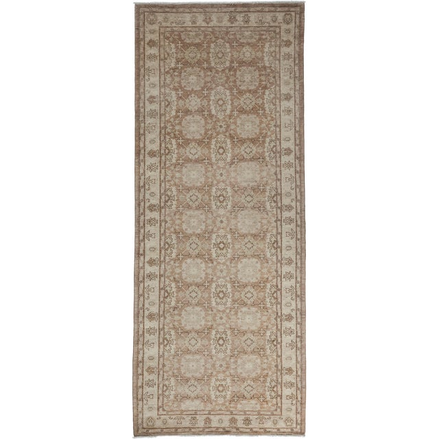 "Oushak, Hand Knotted Runner - 4'2"" X 10'9"" For Sale"